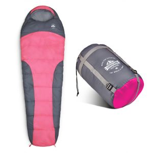 Lumaland Schlafsack 230x80cm Mumienschlafsack, inklusive Packsack, 50 x 25 cm gepackt, pink