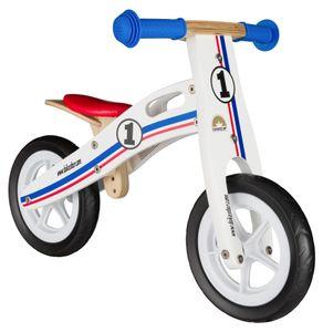 BIKESTAR Kinder Laufrad Holz ab 2 - 3 Jahre | 10 Zoll Lauflernrad | Blau Weiß Rot