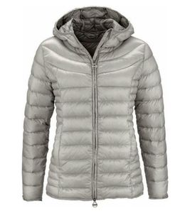 KangaROOS Daunen-Jacke wasserfeste Damen Regen-Jacke mit RDS-er Daune Silber, Größe:36