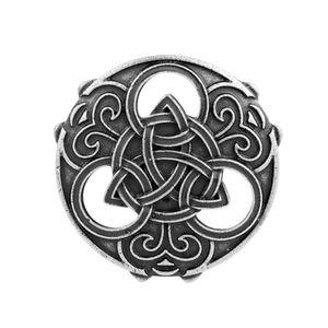 Mittelalterliche Wikinger Symbol Brosche keltische nordische Stifte Kragen Silber 3,9 x 3,9 cm