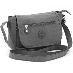 Kompakte Umhängetasche – Leichte Handtasche für Damen – Crossbody Messenger Bag – Nylon Schultertasche klein