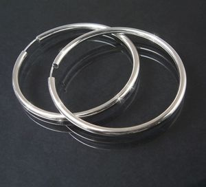 Creolen Silber 925 Niklarson Ohrringe 5cm Rohrcreolen 14125-50