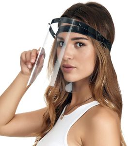 GKA Klappvisier weiß Schutzvisier auch für Kinder geeignet Visier Gesichtsschutzschild stufenlos klappbar Schutzmaske Plexiglas 180 Grad verstellbar