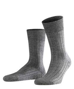 FALKE Herren Socken - Teppich im Schuh, Wolle, Unifarben anthrazit 43-44