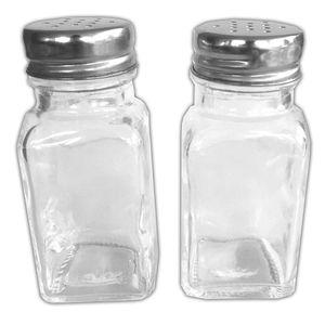 2er Set Glas-Gewürzstreuer Mit Edelsthaldeckel   Gewürzbehälter Gewürzdosen   Salz Pfefferstreuer   Gewürzglas