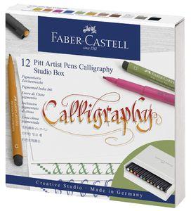 FABER-CASTELL Tuschestift PITT artist pen 12er Atelierbox