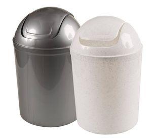 Schwingdeckeleimer, 5 Liter - anthrazit oder weiß - abnehmbarer Deckel
