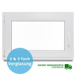 Kellerfenster Kunststoff Fenster 2-fach BxH: 60x40 cm - DIN rechts, Dreh-Kipp