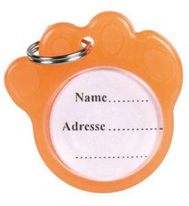 Adressanhänger phosphoreszierend Safety Light TRIXIE Ø 3,5 cm orange
