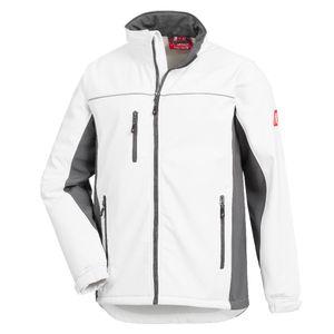 NITRAS® Motion TEX Light Softshell-Arbeitsjacke - Leichte Herren-Softshelljacke Weiß / Grau L