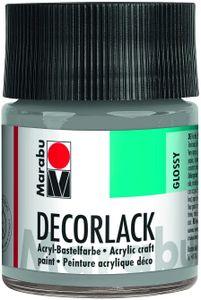 "Marabu Acryllack ""Decorlack"", metallic-silber, 50 ml, im Glas"