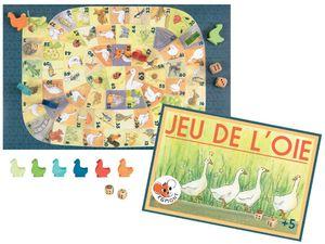 Gänsespiel im nostalgischen Design - Familienspiel, Brettspiel für Kinder