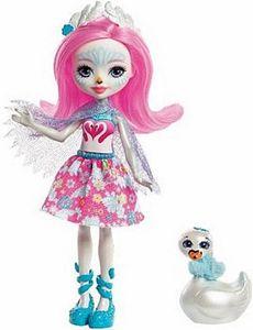 Enchantimals Schwanenmädchen Saffi Puppe