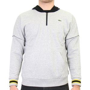Lacoste Sweatshirt mit Kapuze Herren Sonstige Pullover Grau/Schwarz (SH4889 YAB) Größe: XL
