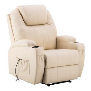 MCombo Elektrischer Massagesessel Fernsehsessel Relaxsessel TV Sessel Heizung 7061CW