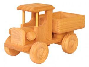 9255 Holzauto Holzspielzeug Lastzug LKW Lastauto Baufahrzeug