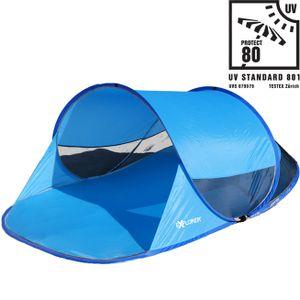 Strandmuschel Explorer Automatik PopUp Sonne UV Schutz 80+ Strandzelt Windschutz