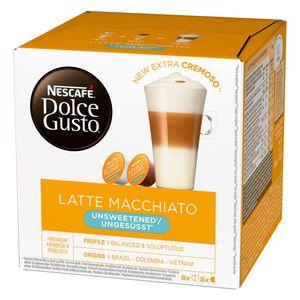 Nescafé Dolce Gusto Latte Macchiato Ungesüßt, Kaffee, Kaffeekapsel, 16 Kapseln (8 Portionen)