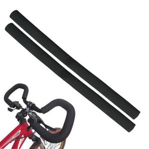 2 X Fahrrad Griffe Lenkerbezug Schaumstoff für Multilenker mit Stopfen 500mm lang