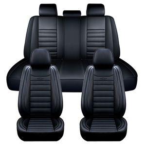 11tlg Elegant 5 Sitz Auto Sitzbezüge Schonbezüge Komplettset Kunstleder Black