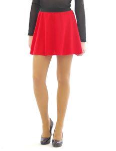Swing Rock Mini hohe Taille Falten-Rock Gummibund Skirt Minirock rot XXL/3XL