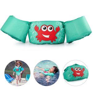 Schwimmweste, Einstellbar Schwimmen Schwimmflügel, für 2-6 Jahre Kleinkinder Schwimmen, Grüne Krabbe
