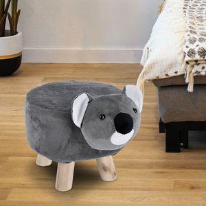 Kinderhocker Tierhocker Koala Sitzhocker Fußhocker Kinder Baby Holz Tier