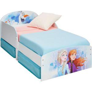 DISNEY FROZEN Kinderbett Frozen - 77 x 142 x 59 cm - Blau