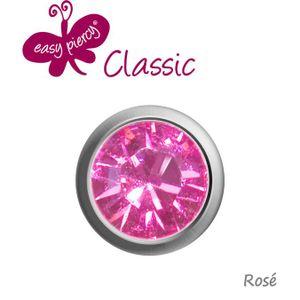 Medizinische Ohrstecker / Gesundheitsstecker / Erstohrstecker Easy Piercy 'Kristall', Farbe:Rosé