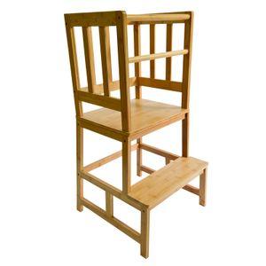 Kinderstuhl Lernturm für Kinder Lernstuhl Kinderhocker 46x46x89cm Hochstuhl Holz