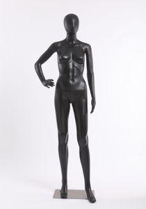 FC-11B schöne weibliche abstrakte schwarz Matt lackierte Schaufensterpuppe Schaufensterfigur abstraktes Gesicht