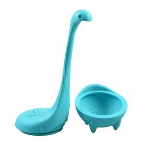 Niedliches Tier Dino - Türkis - Tee-Ei aus Silikon (BPA-frei) für losen Tee Tee-Infuser