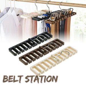 10 Löcher Gürtelhalter Aufhängen Krawattenhalter Kleiderbügel Schrank Platzsparer Schalhalter Gürtelbügel