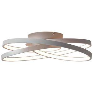 BRILLIANT LABYRINTH LED Deckenleuchte Ø 39,5 cm Metall Kunststoff Grau
