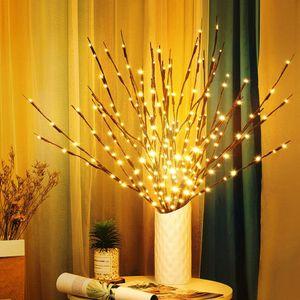 3er 60 LEDs Lichterbaum Zweige Lichter Warmweiß Zweige Lampe für Home Room Vase Dekoration