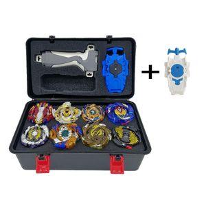 12 Stück Kampfkreisel Set 4D Fusion Modell Metall Masters Kreisel mit Launcher Koffer und Zubehör für Kinder Spielzeug