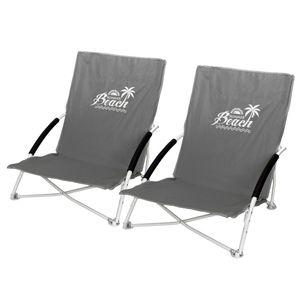 2 Stk. Strandstuhl Summer-Beach inkl. Transporttasche Stone