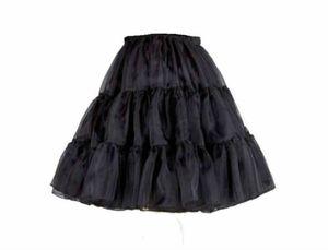 50er 60er Jahr Petticoat Tüllrock Dirndl Rock Unterrock Tütü Damenrock Kurz 45cm Schwarz S/M