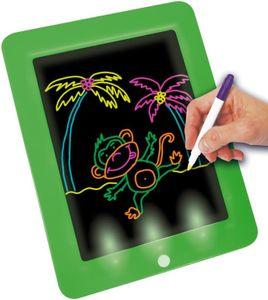 Starlyf® Fantastic Pad XL - Magische Maltafel Spieltafel inkl. 30 Vorlagen, 6 verschiedene Neonfarben, Reinigungstuch, Tragetasche, Schreibtisch Elektronisches LCD, Magischer Schiefer Löschbarer Magnet Lehrspielzeug 3 Jahre alt Grafik-Zeichnungstablett Leuchtend, Original aus der TV Werbung