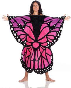 Motiv-Schlupfdecke Kinder / Frauen, Decke Farbe:Pink-Blau-Erwachsen, Decke Größe:120 x 120 cm