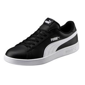 PUMA Schuhe klassische Herren Sneaker Turnschuhe Smash v2 L Schwarz, Größe:42