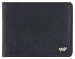 Braun Büffel Golf Leder Schwarz schlanke Geldbörse Geldbeutel Portemonnaie