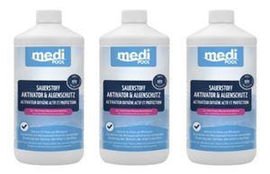 SET: 3 x Sauerstoff Aktivator und Algenschutz 1 L mediPOOL