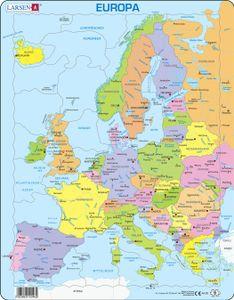 Puzzle 37 Teile - Rahmenpuzzle - Europa