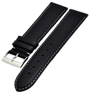 Uhrenarmband Xl extra Lang schwarz fein gepolstert 20mm