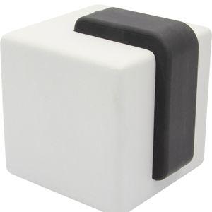 WAGNER Türstopper BETON CUBE BIG - 60 x 66 x 66 mm, aus Beton grau, Kautschuk schwarz, schwer, zum Hinstellen - 15518701