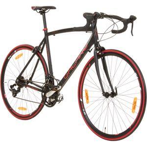 Galano Vuelta STI 28 Zoll Rennrad 700c Road Bike mit Rennradlenker Fahrrad Fitnessrad 14 Gänge, Farbe:schwarz/rot, Rahmengröße:56 cm