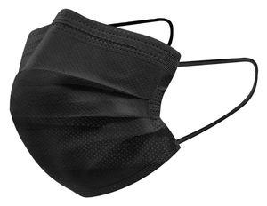 100x Firelia Mundschutz Maske  Schwarz Atemschutz Gesicht Einweg Atem Maske Hygienemaske 3-Lagig