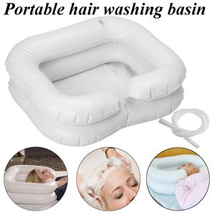 Kopfwaschwanne, Haarwaschwanne,Haarwaschbecken mit Kopfmulde Aufblasbar Tragbar
