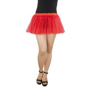 Oblique Unique Tutu Tütü Tüllrock Balletrock Damen Rock Reifrock in rot  für Fasching Karneval Party